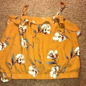 Orange Flower crop top